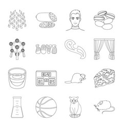 Medicine sport animal and other web icon in vector