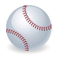shiny baseball ball vector image vector image