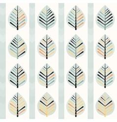 Spring leaf pattern vector image vector image