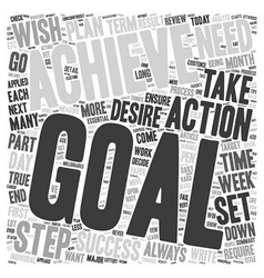 Steps To Achievable Goals text background vector image vector image