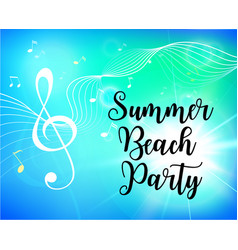 summer beach party flyer vector image