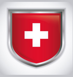 switzerland country design vector image vector image
