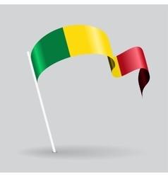 Malian wavy flag vector image