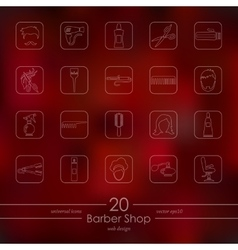 Set of barber shop icons vector