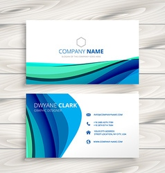Business card made with abstract wave vector