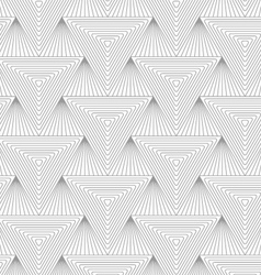 Slim gray hatched triangle vector