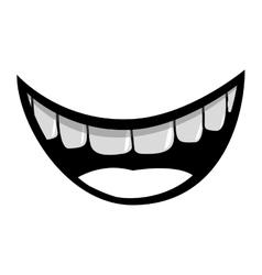 Mouth cartoon icon vector