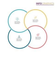 Four steps infographics design element vector