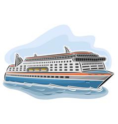 Cruise ferry vessel vector