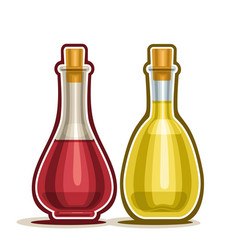 red and white wine vinegar vector image