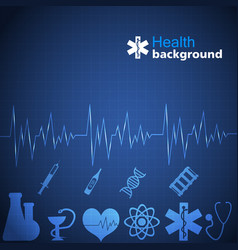 Medicine blue background vector