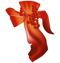 Red christmas bow vector