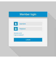 Login interface - username and password fl vector