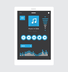 Tablet music player vector