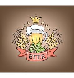 Logo beer vector image