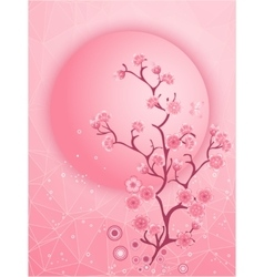 Cherry blossom motif nature template vector