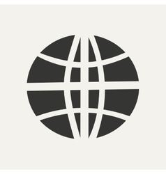Flat in black and white mobile application earth vector