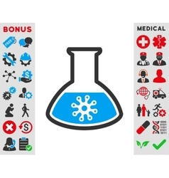 Virus analysis icon vector