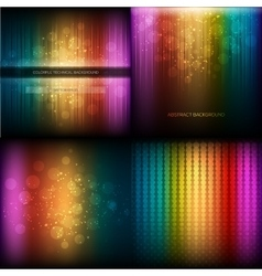 Multicolor musical equalizer set vector
