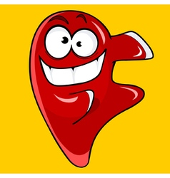Cartoon character cheerful red drop vector