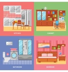 Interior Room Set vector image
