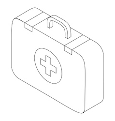 First aid kit icon isometric 3d style vector