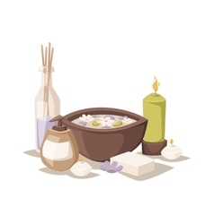 Spa aroma icons vector