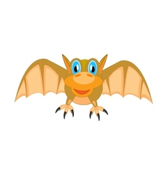 Bat on white background vector image vector image
