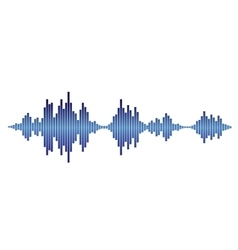 Blue sound waves vector