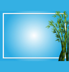 Border template with bamboo trees vector