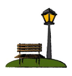 Chair and street light vector