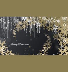 christmas background with snowflakes and simple vector image vector image