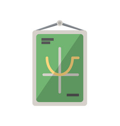 Class poster isolated icon in flat style vector