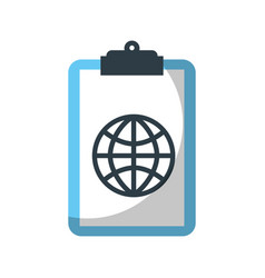 clipboard with global connection network image vector image
