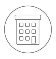 Condominium building line icon vector image