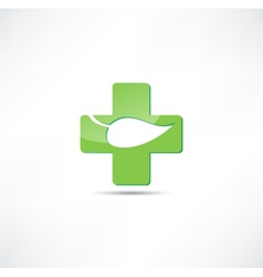 Eco medicine icon vector
