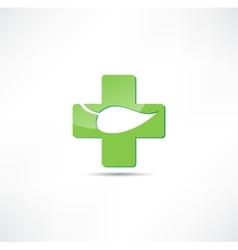 Eco medicine icon vector image vector image