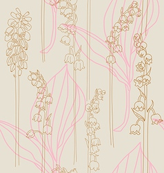 Elegant seamless print with lilies of the valley vector image vector image
