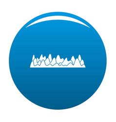 Equalizer sound vibration icon blue vector