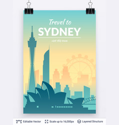 Famous city poster vector
