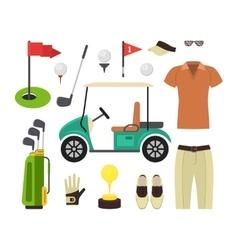 Golf Equipment Set vector image vector image