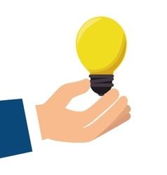Hand hold bulb vector
