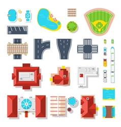 Icon set of city elements vector
