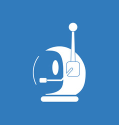 Icon space helmet with antenna vector