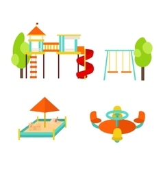 Kids Playground with Elements vector image vector image
