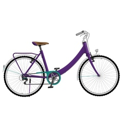 Ladies purple urban sports bike vector