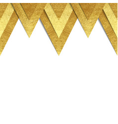Metallic gold paper border background vector