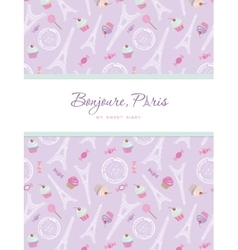 Notebook cover design on the theme of paris vector