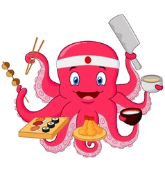 Octopus chef vector image