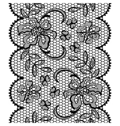 Old lace background ornamental flowers texture vector image vector image
